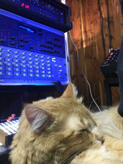 Mr. Maxmillion in the studio