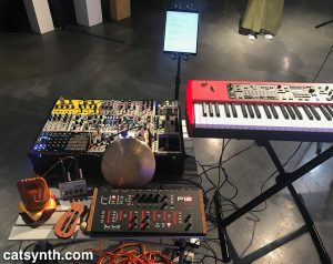 Amanda's Pitta of the Mind Setup with Prophet 12, Modular synth and Nord Stage EX