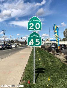 CA 20 and CA 45 in Colusa, California