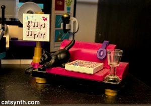 Black cat in Lego studio