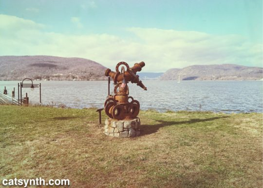 Sculpture at Fleishmann Pier in Peekskill, NY