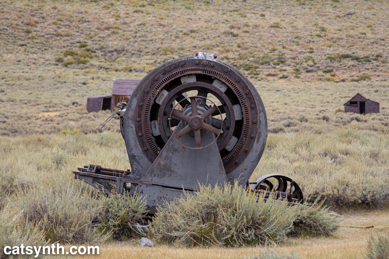 Rusted machine at Bodie, California